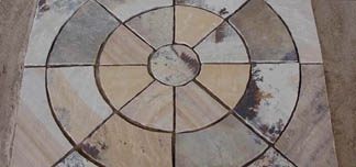 Fossil Mint Sandstone Circle