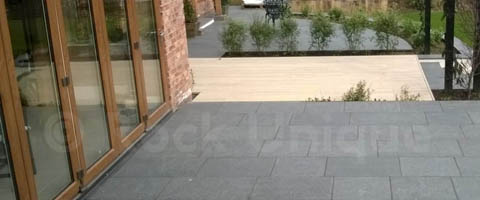 Black Granite Flamed Paving