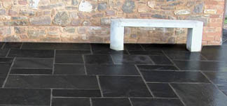 Black Limestone Sawn Paving