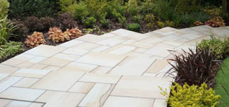 Lemon Sandstone Sawn Paving